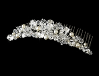 Arabella-Couture Gorgeous Crystal, Freshwater Pearl Comb - SALE!!