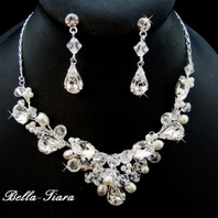 Arabella - Stunning Bold Crystal Couture Wedding Necklace Set - SPECIAL!!