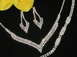 Aresa - Dazzling 3pc rhinestone bridal jewerly set - SALE!!!
