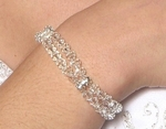Aria- Stunning double row Swarovski crystal wedding bracelet - SALE