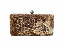 Astonishing Gold topaz Swarovski crystal purse - SPECIAL!!