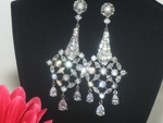 Athena - COUTURE Superior  Elegance CZ bridal earrings