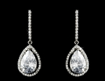 Athena - Elegant CZ pear drop Earrings - SPECIAL