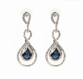 Augusta - Gorgeous sapphire crystal drop earrings - SPECIAL