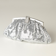 Avey - Silver Sequin & Rhinestone Evening Bag - SALE