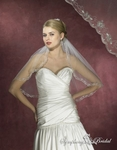 Beaded Edge Elbow Lenght 1-Tier Bridal Veil