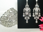 Beata - Vintage dazzle chandelier earrings and bracelet set - SPECIAL