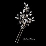 Beautifiul crystal gold hair pin - SALE