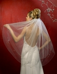 Beautiful 2 Tier Beaded Edge Veil