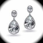 Beautiful and Elegant CZ wedding earrings