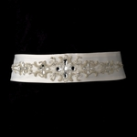 Beautiful beaded bridal sash belt - SALE
