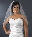 Beautiful beaded w/ pearl edge bridal veil - SPECIAL!!!