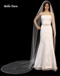 Dazzle Collection - BEST SELLER- Crystal & Pearl Edge cathedral wedding Veil - SPECIAL