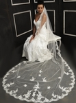 Designer Collection - Beautiful beaded lace Cathedral Veil
