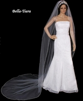 Dazzle Collection - Beautiful Pearl and rhinestone Edge cathedral Veil - SPECIAL