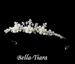 Beautiful child ivory rum roses communion or flowergirl tiara - SALE