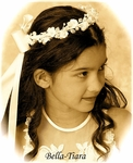 beautiful communion hair wreath with veil