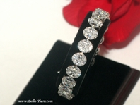 Beautiful couture diamond inspired wedding tennis bracelet - SALE