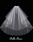 Beautiful high end cystal and beaded edge communion veil - SALE
