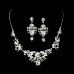 Beautiful Design Austrian Crystal Bridal necklace