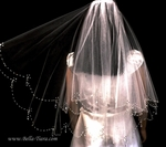 BEAUTIFUL designer communion veil crystal drops