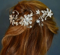 Beautiful designer swarovski crystal vine headpiece - SALE