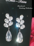 Beautiful elegant crystal drop wedding earrings - SPECIAL one left