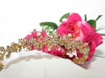 Beautiful Flower bud Gold Bridal Tiara