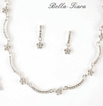 Beautiful flowergirl communion Rhinestone Necklace Set - SALE
