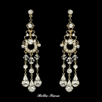 Beautiful gold chandelier earrings  -- SALE