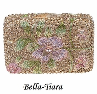 NEW!!  Beautiful Gold Swarovski Crystal Evening Clutch  - sale