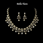 Beautiful Gold & Crystal Necklace Set
