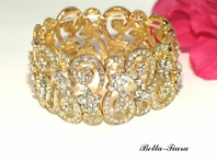 Beautiful gold vintage crystal bracelet - SALE