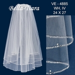 Beautiful high end crystal beaded communion veil - SPECIAL