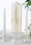 Beautiful Ivory Pearl Candle Set