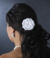 Beautiful Ivory Single Flower hair pin