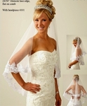 Beautiful Lace Edge Princess Catherine Replica wedding Veil - SALE