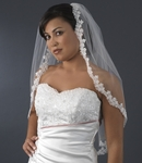 BEAUTIFUL lace floral beaded edge veil - SALE