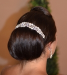Aina- Designer Collection - Freshwater pearl Crystal Headpiece - SALE