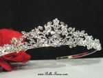 Italian collection - floral swarovski crystal communion crown tiara - SPECIAL!!