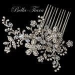Beautiful romantic antique silver and pearl wedding hair comb