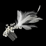 Beautiful romantic vintage off white feather hair clip - SPECIAL