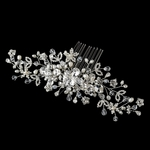 Beautiful - ROYAL COLLECTION - Silver Freshwater Pearl, Swarovski crystal bridal Hair Comb - SALE