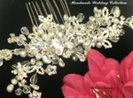 Beautiful - ROYAL COLLECTION - Freshwater Pearl, crystal bridal Hair Comb - SPECIAL one left