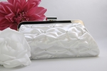 Beautiful satin w/ rhinestones bridal purse