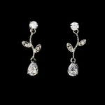 Beautiful Silver Cubic Zirconia Drop Vine Earrings  - SALE