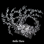 Royal Collection - Swarovski crystal Vine Spray Wedding Hair Comb - special
