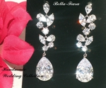 Beautiful Swarovski crystal drop bridal earrings - SPECIAL two left