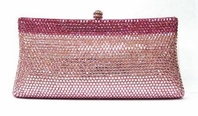 Beautiful swarovski crystal pink evening purse - SALE
