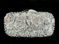 BEAUTIFUL swarovski crystal rose clutch purse - SALE